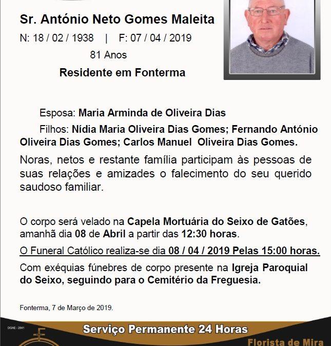 Sr. António Neto Gomes Maleita
