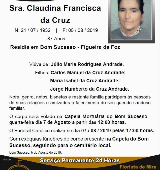 Sra. Claudina Francisca da Cruz