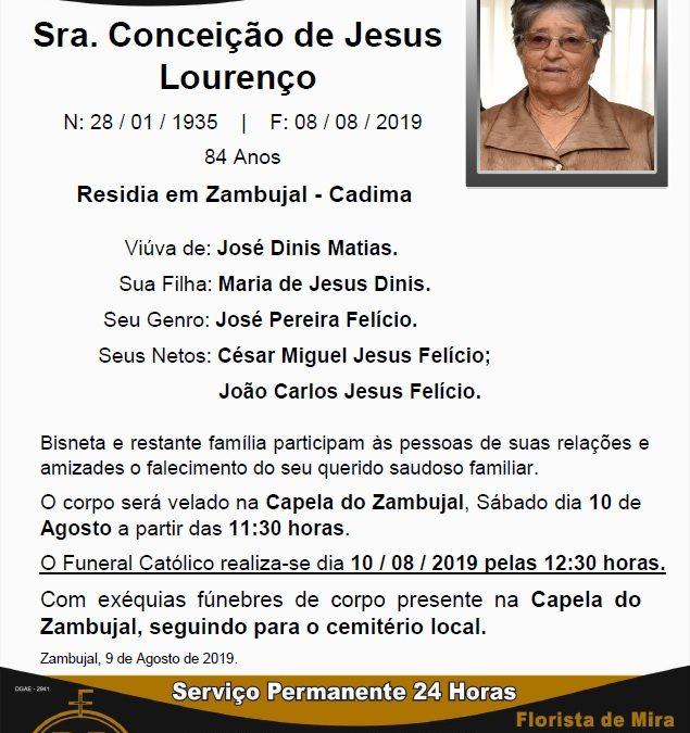 Sra. Conceição de Jesus Lourenço