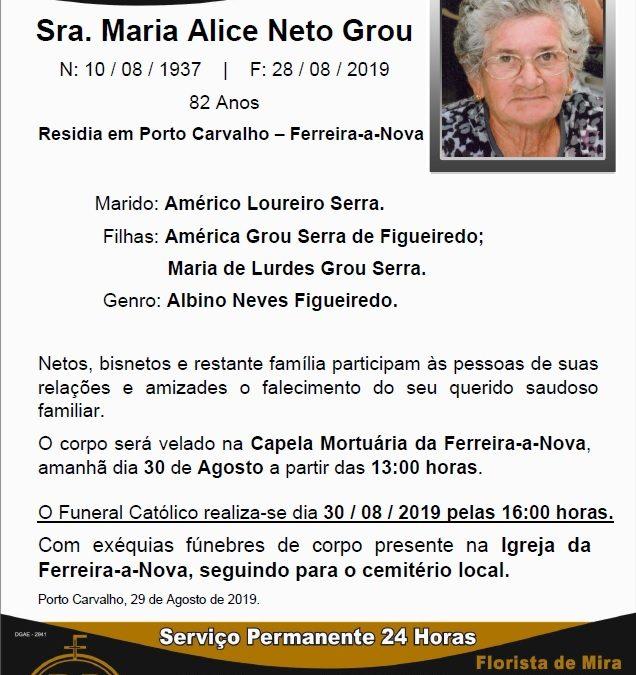 Sra. Maria Alice Neto Grou