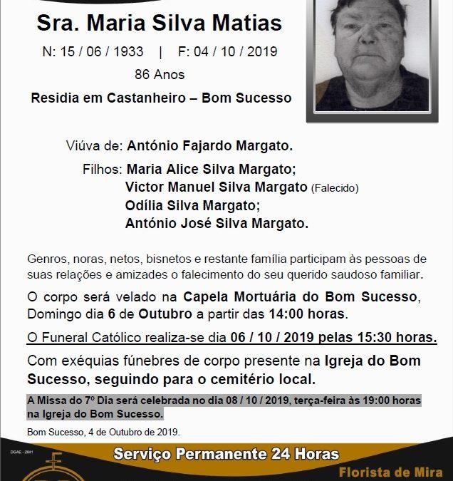 Sra. Maria Silva Matias