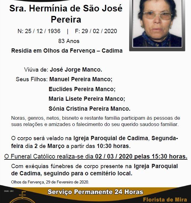 Sra. Hermínia de São José Pereira