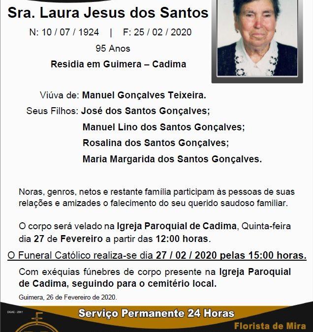 Sra. Laura Jesus dos Santos