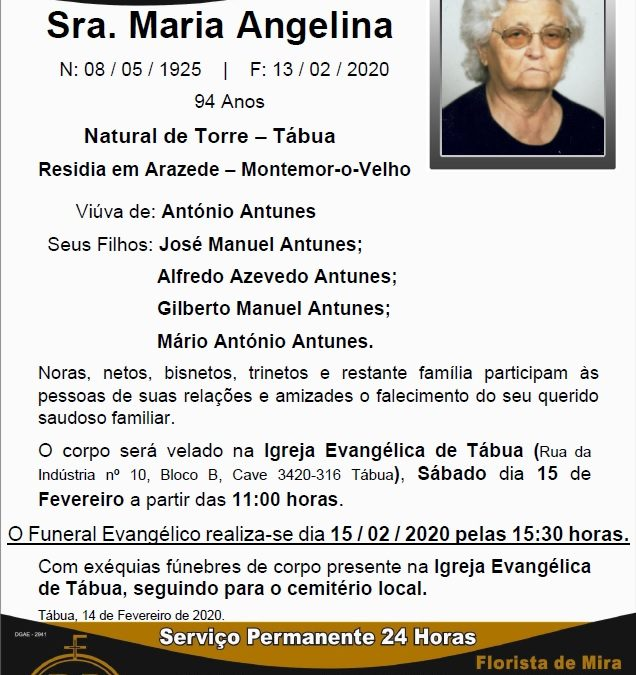 Sra. Maria Angelina