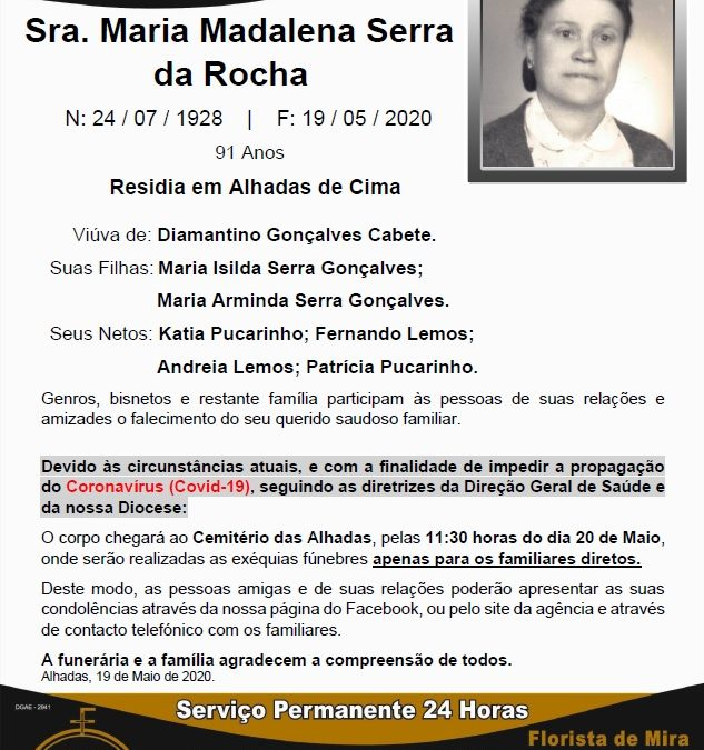 Sra. Maria Madalena Serra da Rocha