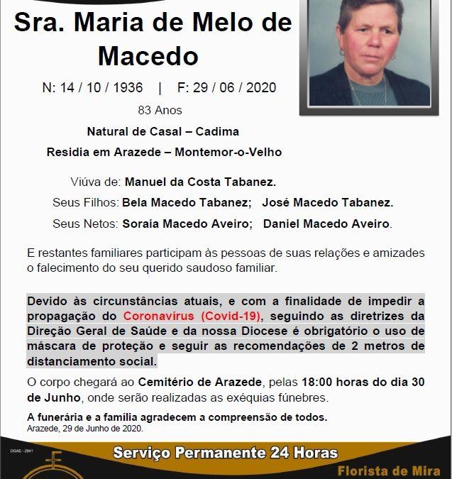 Sra. Maria de Melo de Macedo