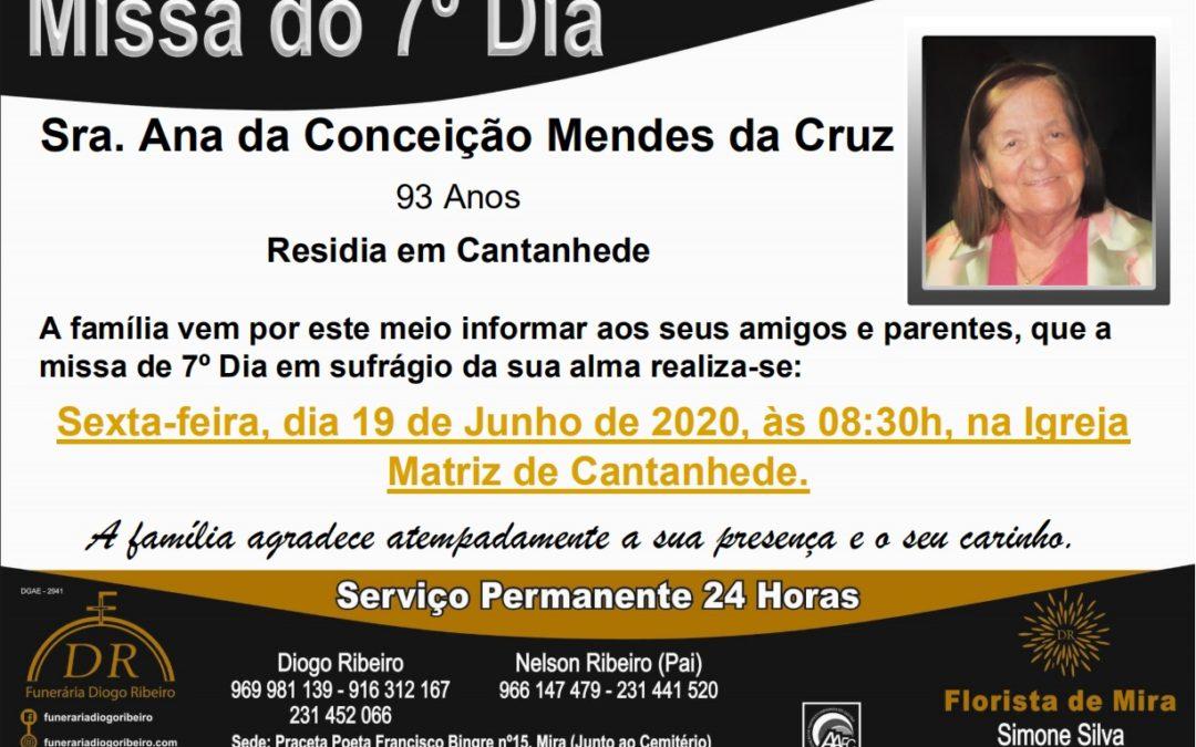 Missa 7º Dia Ana da Conceição Mendes da Cruz
