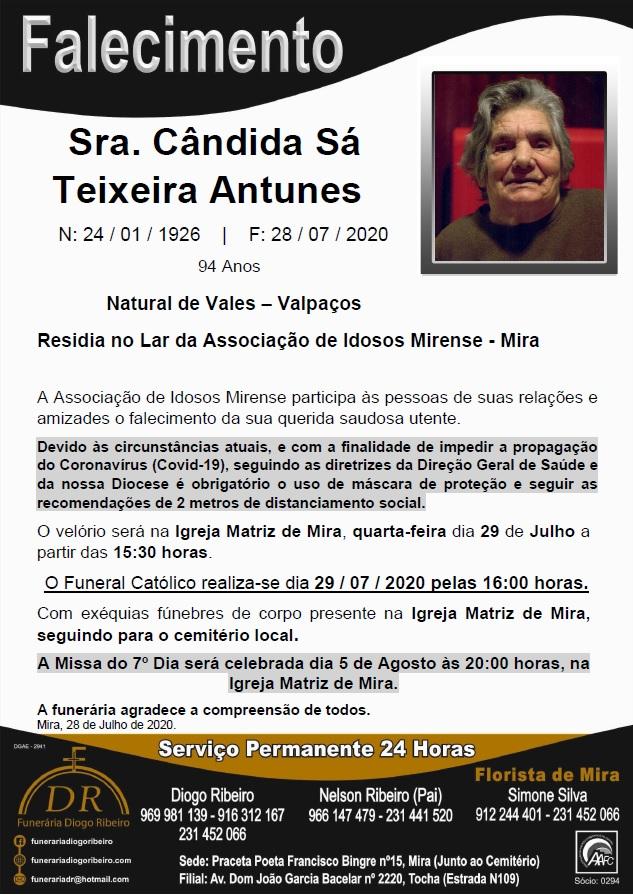 Sra. Cândida Sá Teixeira Antunes