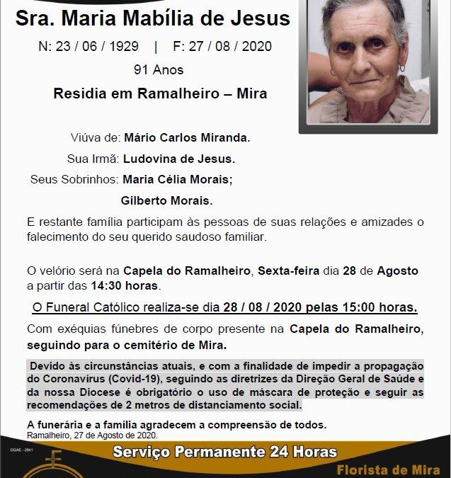 Sra. Maria Mabília de Jesus