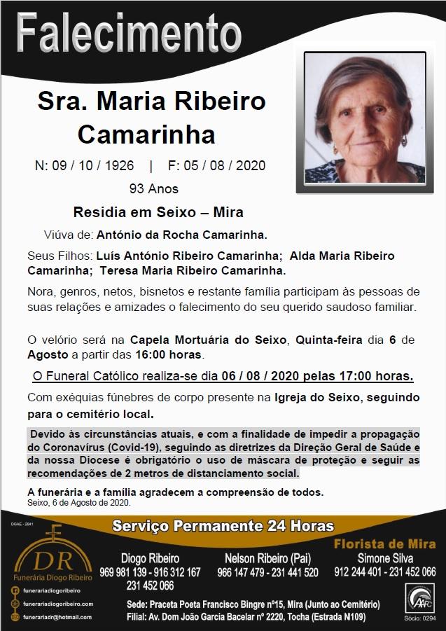 Sra. Maria Ribeiro Camarinha