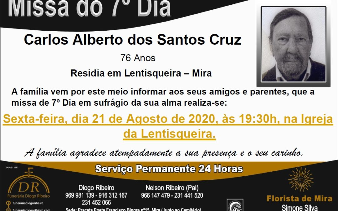 Missa 7º Dia Carlos Alberto dos Santos Cruz