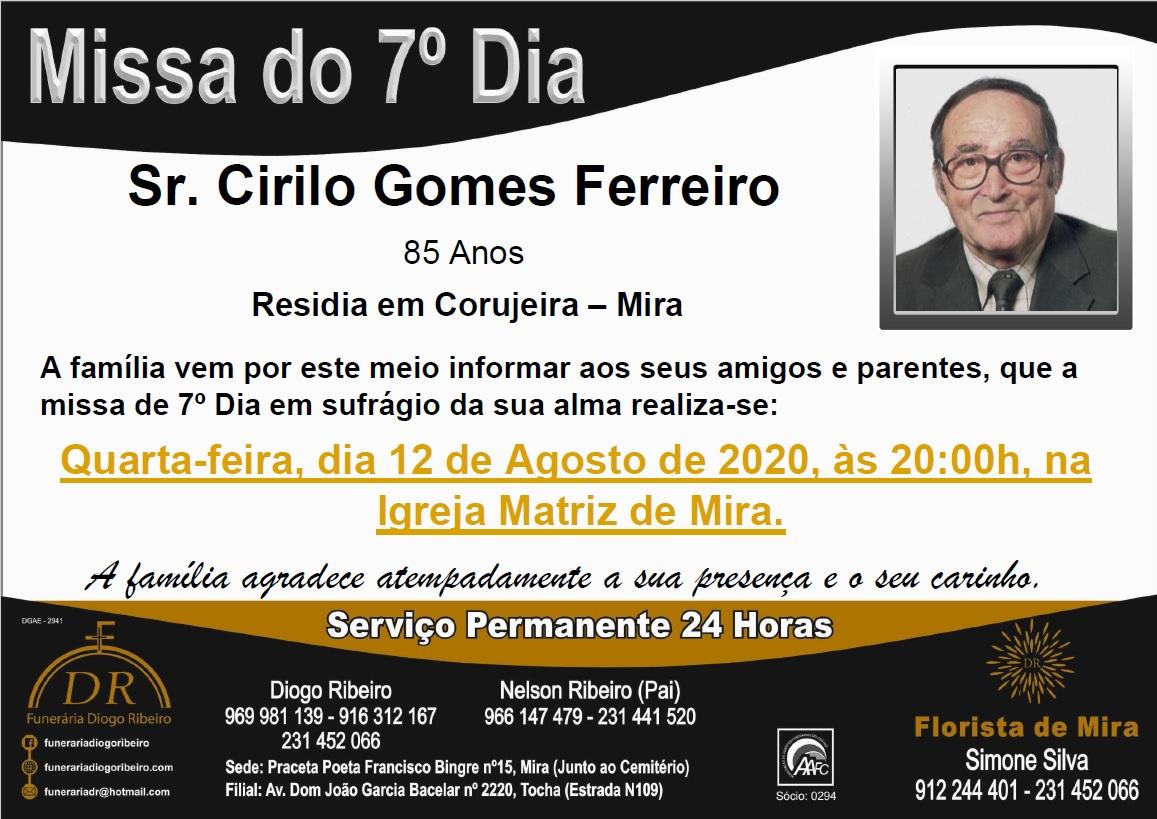 Missa 7º Dia Cirilo Gomes Ferreiro