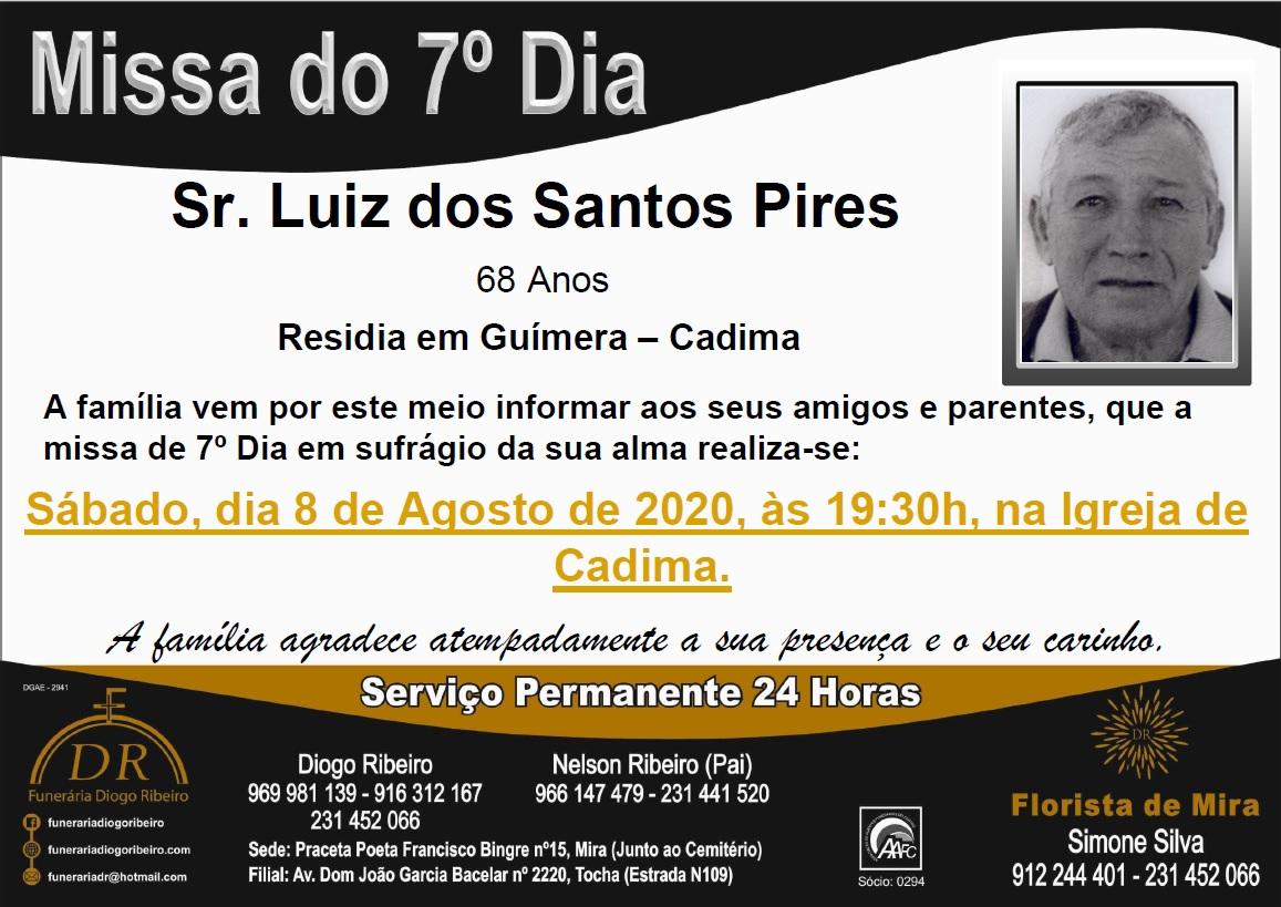 Missa 7º Dia Luiz dos Santos Pires