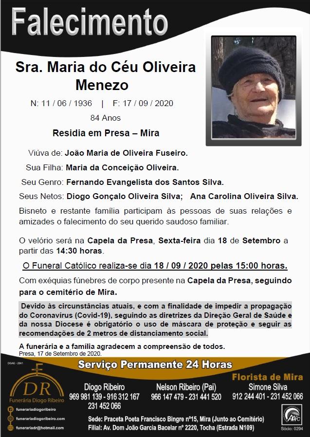 Sra. Maria do Céu Oliveira Menezo