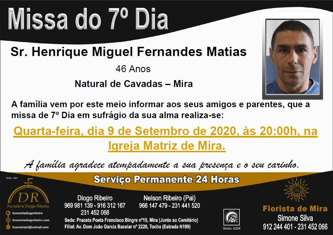 Missa 7º Dia Henrique Miguel Fernandes Matias