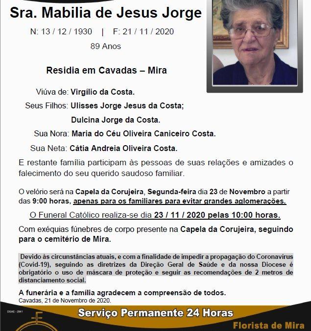Sra. Mabilia de Jesus Jorge