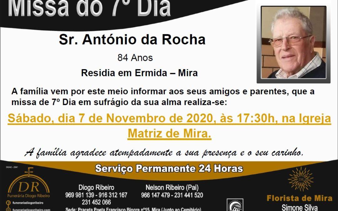Missa 7º Dia António da Rocha