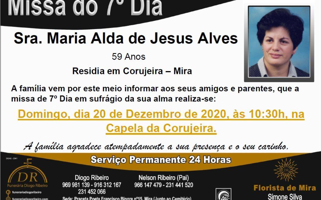 Missa 7º Dia Maria Alda de Jesus Alves
