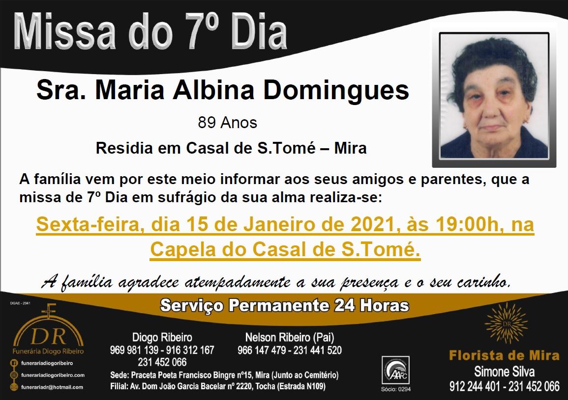 Missa 7º Dia Maria Albina Domingues