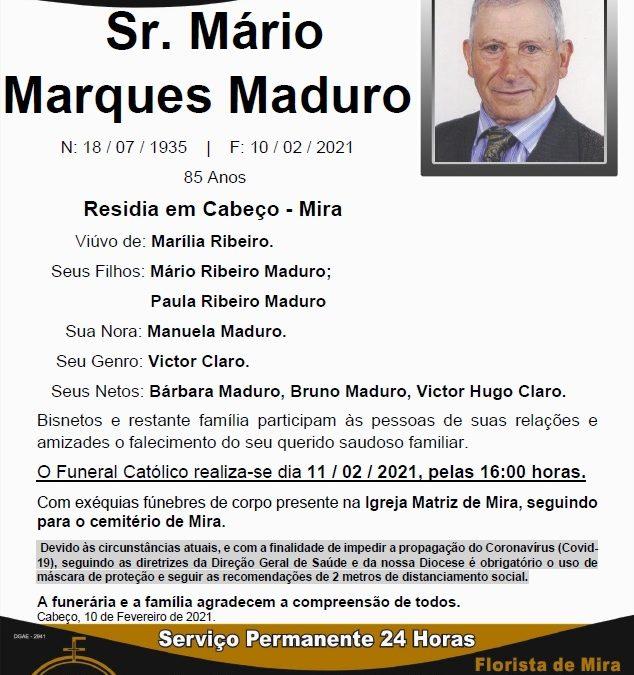 Sr. Mário Marques Maduro
