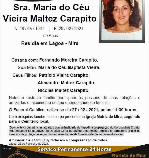 Sra. Maria do Céu Vieira Maltez Carapito