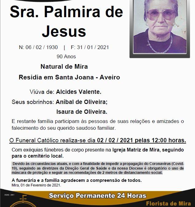 Sra. Palmira de Jesus