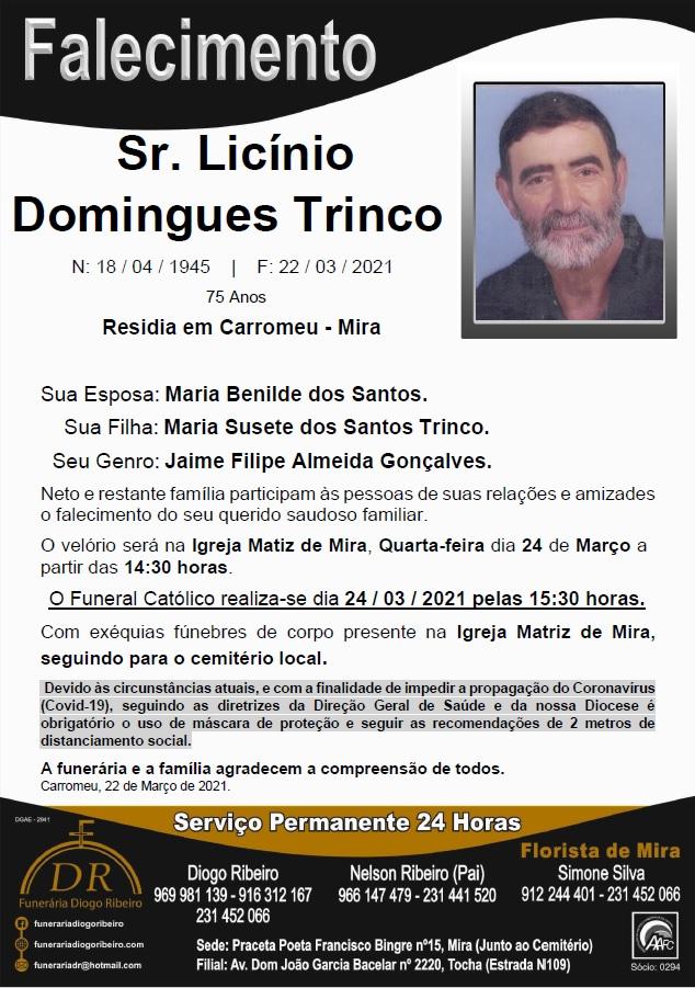 Sr. Licínio Domingues Trinco