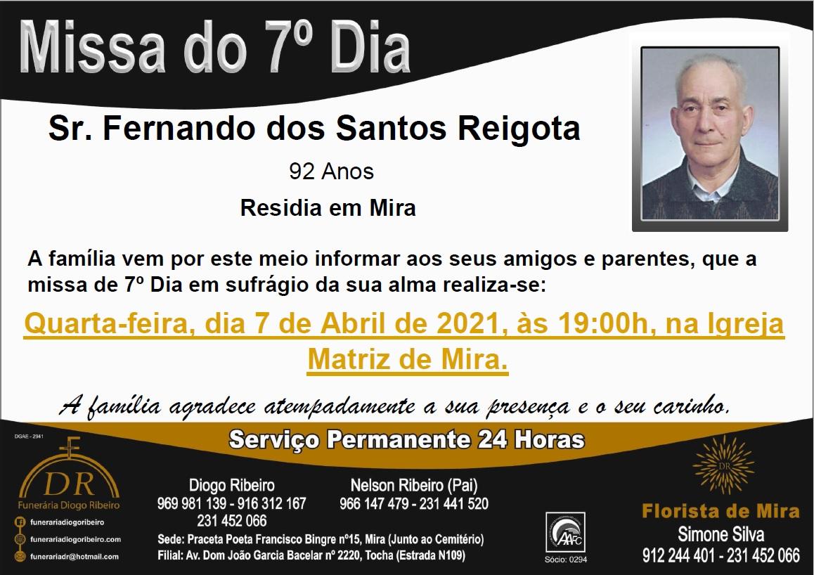 Missa 7º Dia Fernando dos Santos Reigota