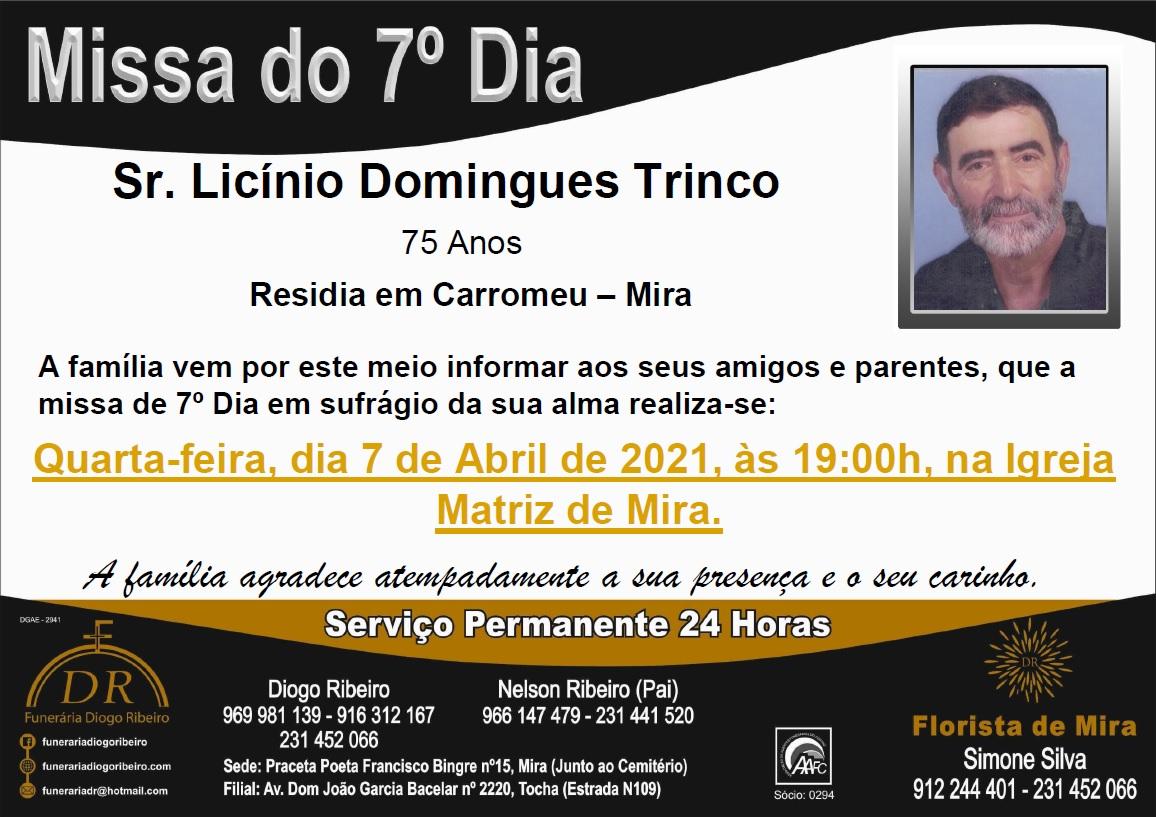 Missa 7º Dia Licínio Domingues Trinco