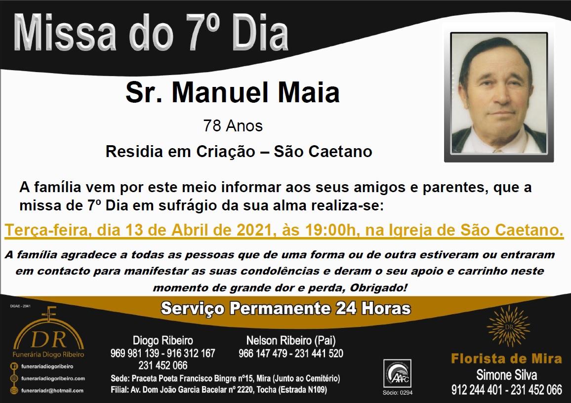 Missa 7º Dia Manuel Maia